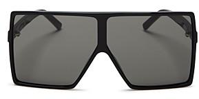 Saint Laurent Women's Betty Oversized Square Shield Sunglasses, 68mm