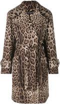 Dolce & Gabbana leopard print belted coat