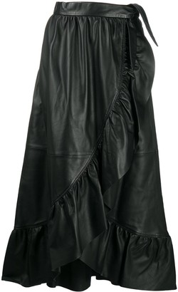 Zimmermann Ladybeetle leather wrap skirt
