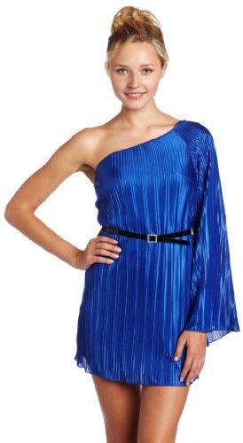 XOXO Juniors One Shoulder Dress with Skinny Belt