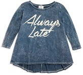 Ppla Girls' Acid Washed Always Late Tee - Sizes S-L