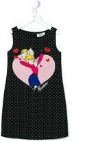 Moschino Kids - graphic print dress - kids - Polyester/Spandex/Elastane/Cupro - 8 yrs