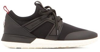 Moncler Meline Neoprene And Leather Low-top Trainers - Black