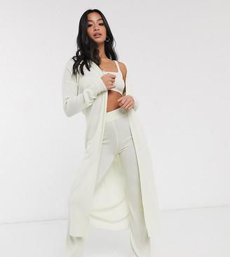 Asos DESIGN Petite exclusive lounge 3 piece set cami trouser and cardigan