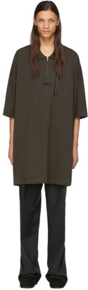 Random Identities Khaki Oversized Polo