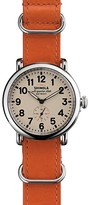Shinola The Runwell Leather NATO Strap Watch, 41mm