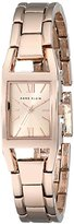 Anne Klein Women's 10/6418RGRG Rose Gold-Tone Rectangular Case Bracelet Watch