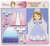 Melissa & Doug Disney's Sofia the First Wooden Dress-Up Chunky Puzzle by
