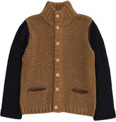 Bonton Two-Tone Alpaca Wool Cardigan