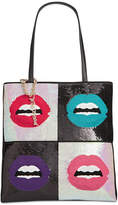 Betsey Johnson Sequined Lips Medium Tote