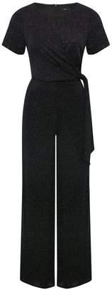 M&Co Glitter knot front jumpsuit