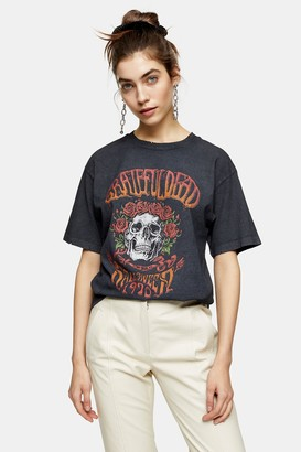 Topshop Grey Grateful Dead T-Shirt by And Finally