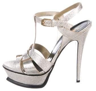 5c52c2e83d Ysl Silver Metallic Tribute - ShopStyle