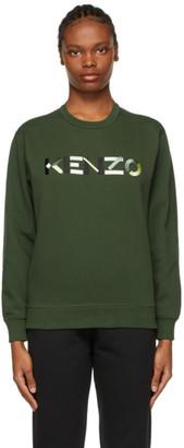 Kenzo Khaki Logo Sweatshirt