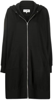 MM6 MAISON MARGIELA Front Zipped Hoodie Dress