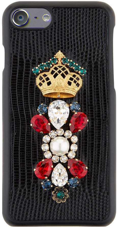 Dolce & Gabbana Embellished Royal iPhone 7 Case