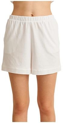 Skin Natural Skin Cindy Organic Cotton/Moda Shorts (White) Women's Shorts
