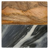 Thirstystone Gray Marble With Acacia Wood Square Trivet