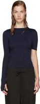Jacquemus Navy Single Sleeve Sweater