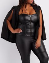 Charlotte Russe Plus Size Quilted Faux Leather Corset