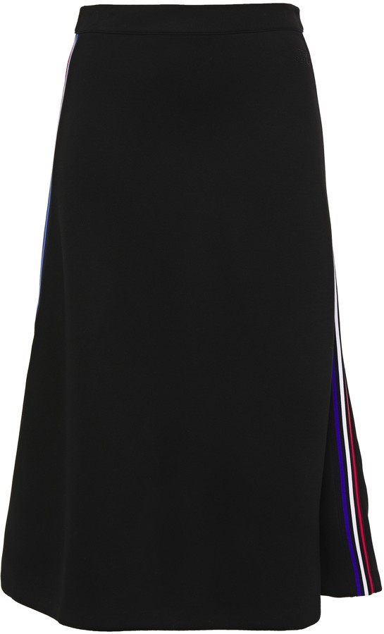 Être Cécile Aline Striped Stretch-knit Midi Skirt