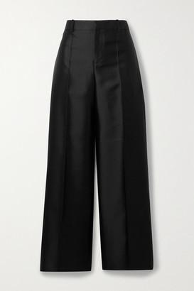 Givenchy Wool And Silk-blend Satin Straight-leg Pants - Black