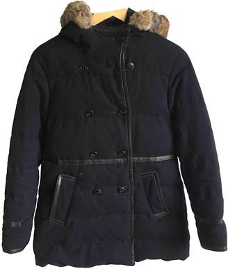 Comptoir des Cotonniers Navy Wool Coat for Women