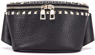 Valentino Rockstud Belt Bag in Black | FWRD