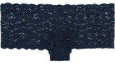 Hanro Moments Stretch-lace Briefs - Navy