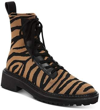 Loeffler Randall Women's Brady Knit Lace-Up Boots