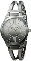 Anne Klein Women's AK/2153OMGY Silver-Tone and Gunmetal Ombre Open Bangle Watch