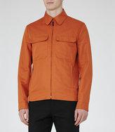 Reiss Horizon Cotton And Linen Jacket
