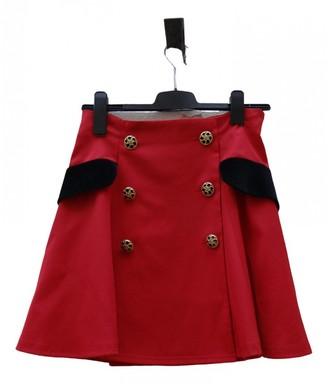 Moschino Cheap & Chic Moschino Cheap And Chic Red Wool Skirt for Women