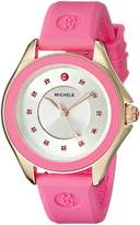 Michele Women's MWW27A000008 Cape Analog Display Analog Quartz Pink Watch