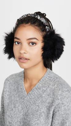 Eugenia Kim Janine Solid Black Faux Fur Ear Muffs