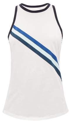 LNDR Striped Cotton-jersey Tank Top - Womens - White Print