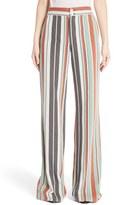 Chloé Mixed Stripe Wide Leg Pants