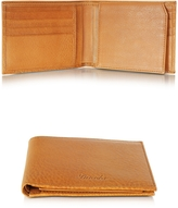 Pineider Country Cognac Leather Billfold Wallet w/Flap