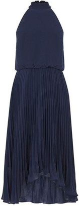 Oasis Chiffon Pleated Megan Midi Dress