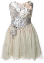 Trash Couture - strapless floral mini dress - women - Silk - S