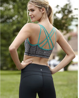 Express marled and teal EXP core strappy sports bra