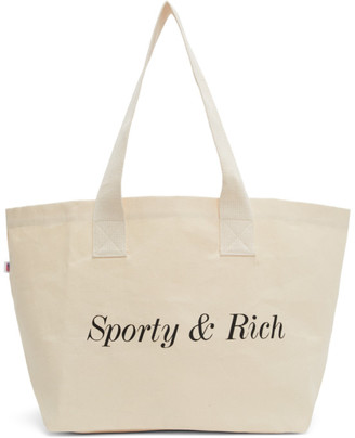 Off-White Sporty And Rich Sporty and Rich Logo Tote