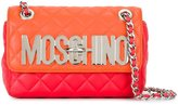 Moschino quilted logo plaque shoulder bag - women - Calf Leather - One Size