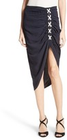 Veronica Beard Women's Marlow Ruched Lace-Up Skirt