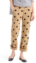 J.Crew Women's Polka Dot Boyfriend Chino Pants