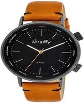 Simplify Unisex Orange Strap Watch-Sim3307