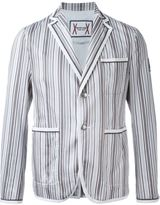 Moncler Gamme Bleu striped blazer - men - Cotton/Polyester - I