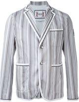 Moncler Gamme Bleu striped blazer
