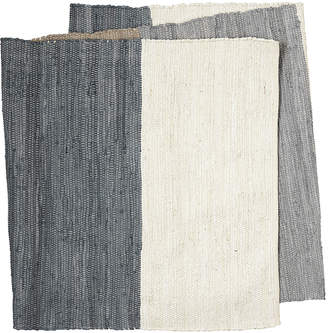 Broste Copenhagen - Multi-Coloured Block Rug - Blue/Grey