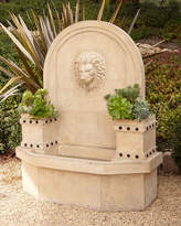 Horchow Lion-Head Wall Fountain